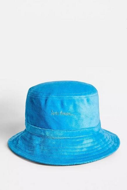 Urban Outfitters - Blue iets frans... Velour Bucket Hat, Women