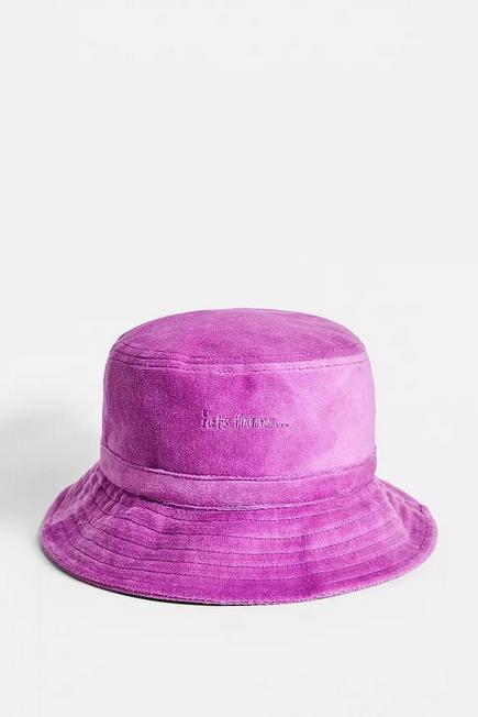 Urban Outfitters - Pink iets frans... Velour Bucket Hat, Women