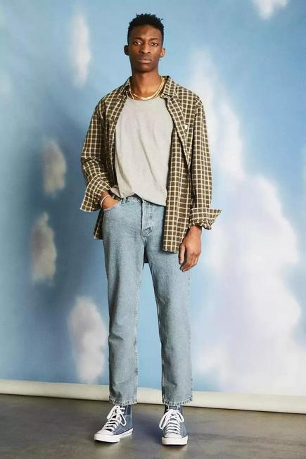 Urban Outfitters - BLUE BDG Recycled Light Wash Dad Jeans
