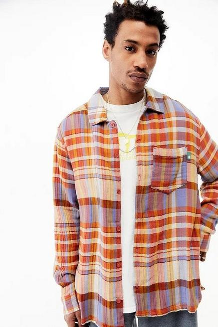 Urban Outfitters - PINK UO Pink Check Textured Shirt