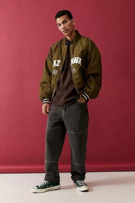 Urban Outfitters - Black BDG Panel Louis Skate Jeans, Men