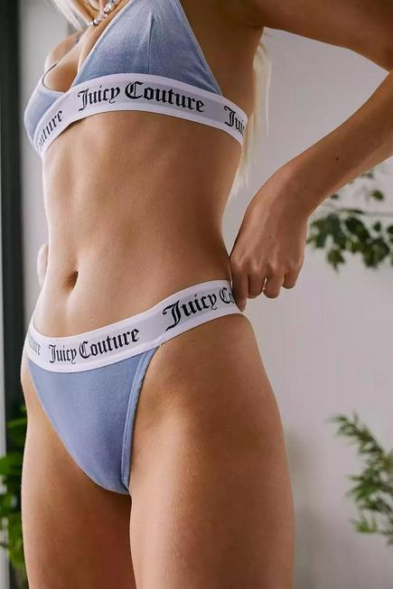 Urban Outfitters - Blue Juicy Couture Diddy Velour Knickers, Women