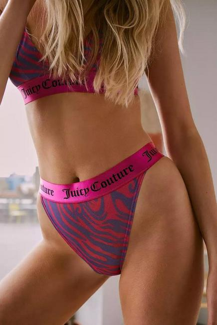 Urban Outfitters - PURP Juicy Couture Printed Mesh Knickers