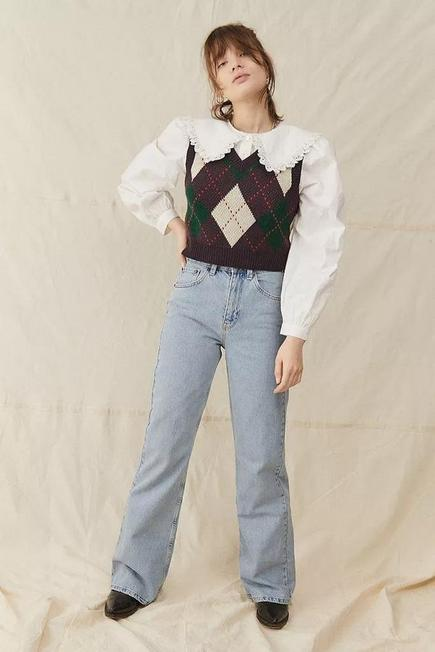 Urban Outfitters - Denim Light Blue BDG Lake Bootcut Flare Jeans, Women