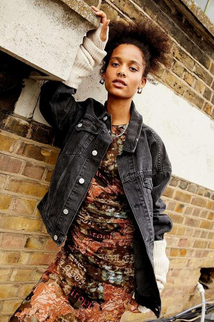 Urban Outfitters - Black BDG Recycled Denim Jacket, Women
