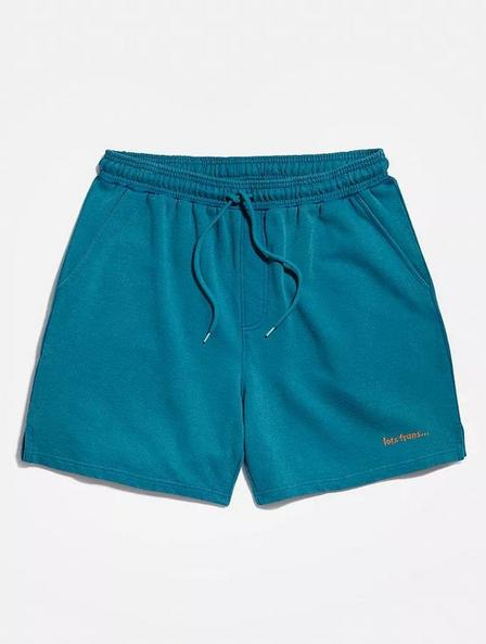Urban Outfitters - Blue iets frans... Bright Teal Jersey Shorts, Men