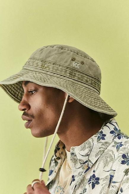 Urban Outfitters - Khaki BDG Washed Canvas Rimmed Hat, Men
