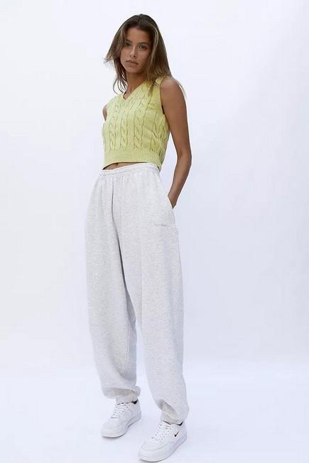 Urban Outfitters - Lime iets frans... Cable Black Knit Vest, Women