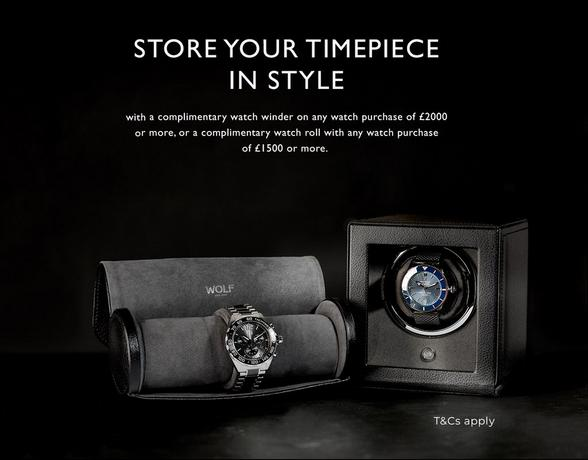 Luxury watch free gift with purchase over £1500