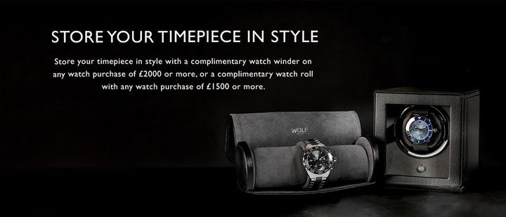 Free gift with purchase for luxury watches over £1500