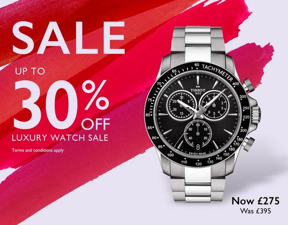 Luxury watch sale at Ernest Jones