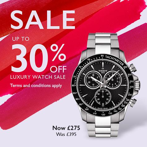 Up to 30% off luxury watch sale at Ernest Jones
