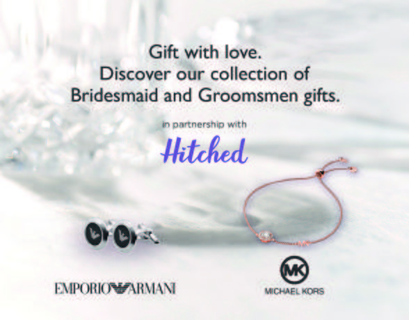 Ernest Jones x Hitched campaign with Armani and Michael Kors