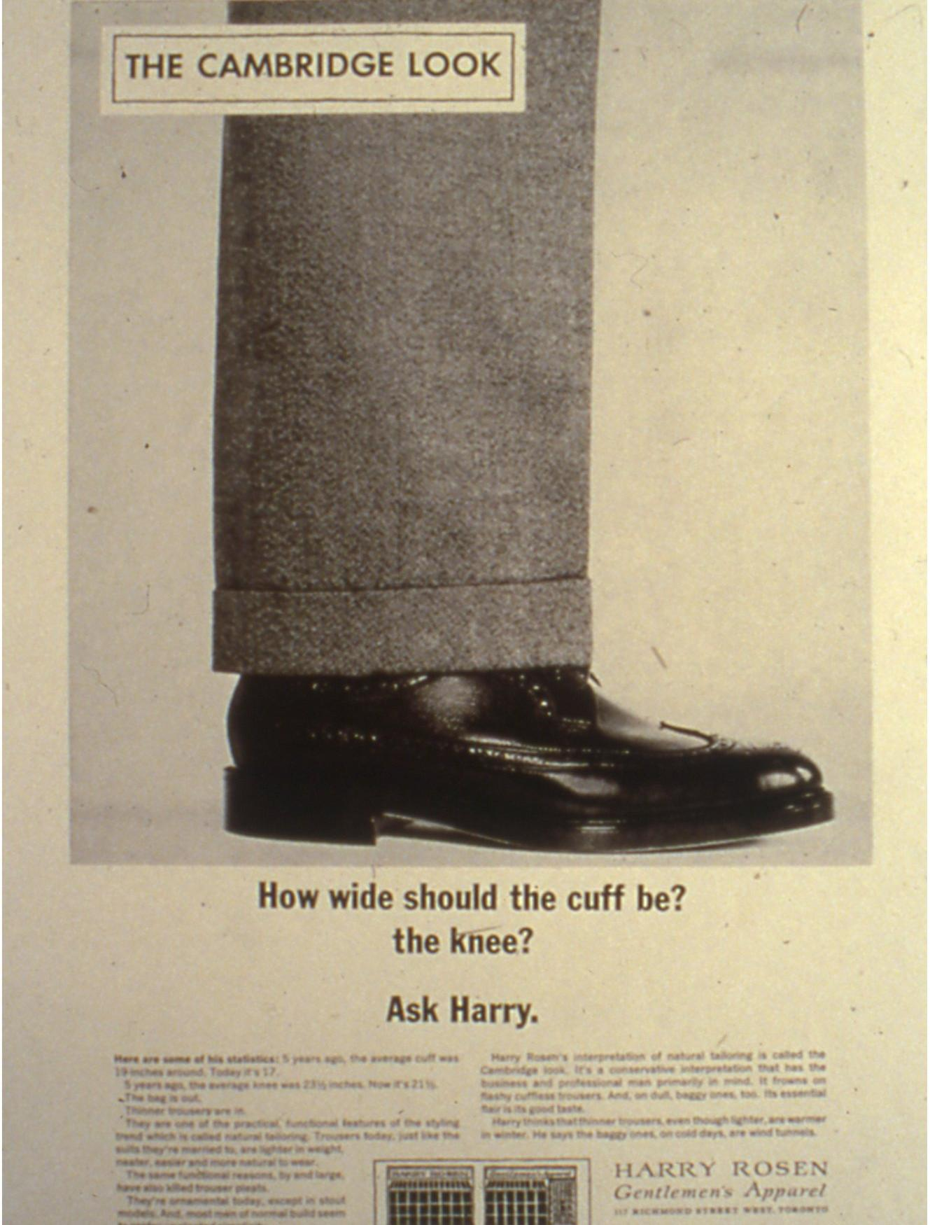 The iconic Ask Harry advertising campaign.