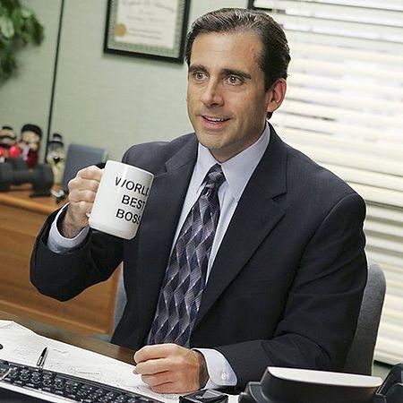 Steve Carell with mug