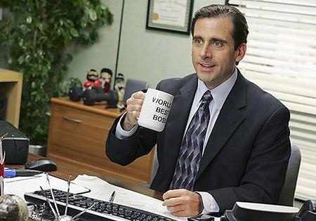Steve Carell with a mug