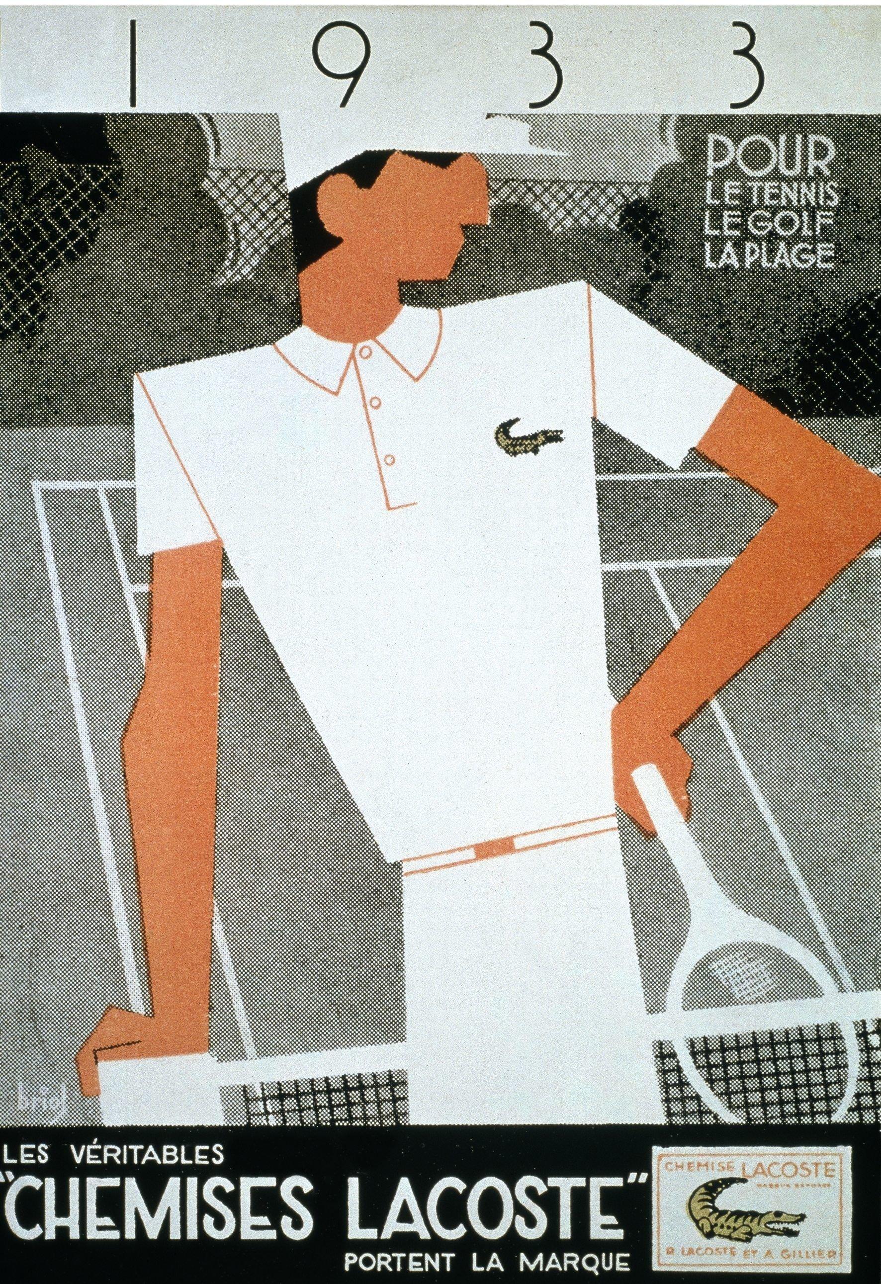 """An art deco advert for les """"chemises Lacoste"""""""