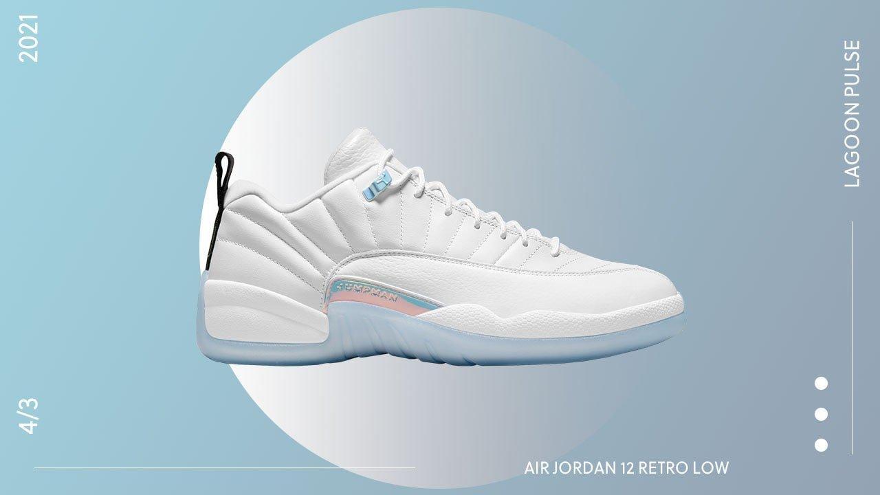 """Sneakers Release- Jordan 12 Low """"Easter"""" White/Multi-Color Men's ..."""
