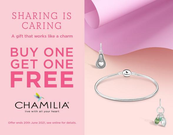 Buy one get one FREE on ALL chamilia