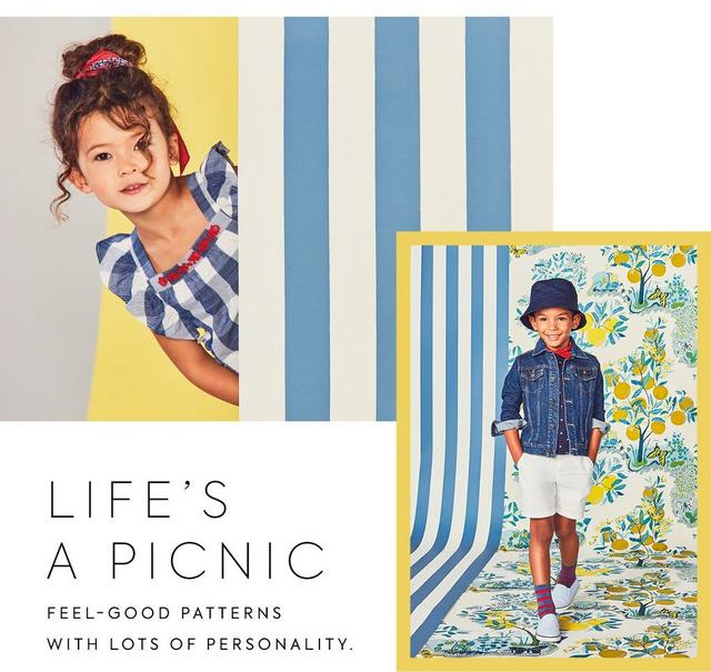 Life's A Picnic: feel-good patterns with lots of personality. Shop the newest collection for girl, boy and newborn.