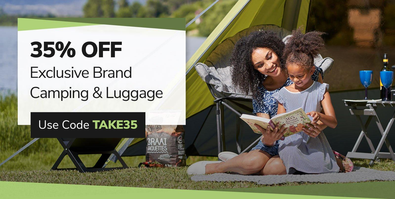 35% Off Exclusive Brand Camping and Luggage