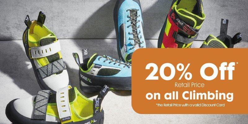 20% Off Climbing