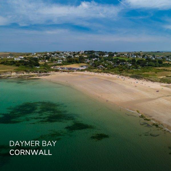 Image of the sands of Daymer Bay beach near Polzeath, Cornwall. A walking hidden gem