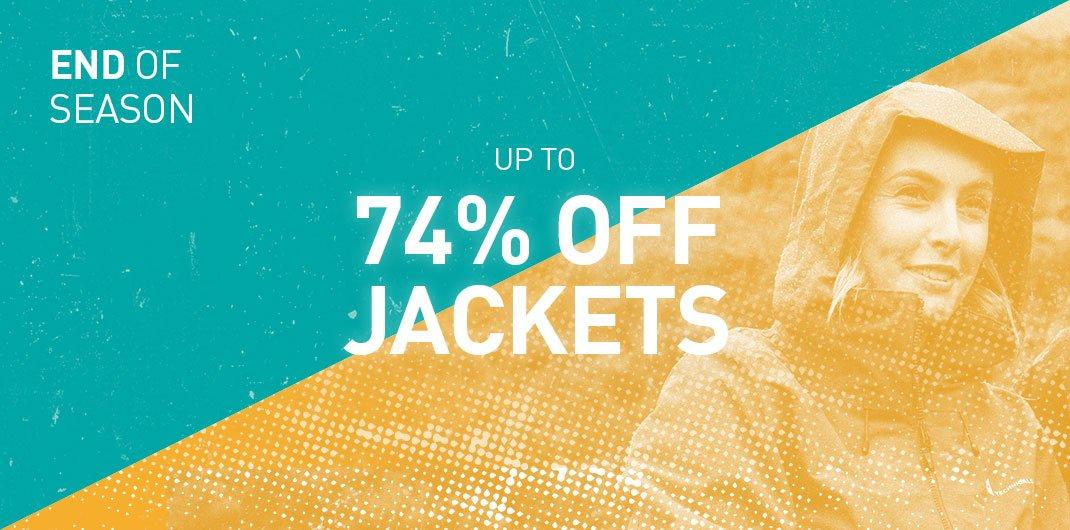 Up To 74% Off Jackets
