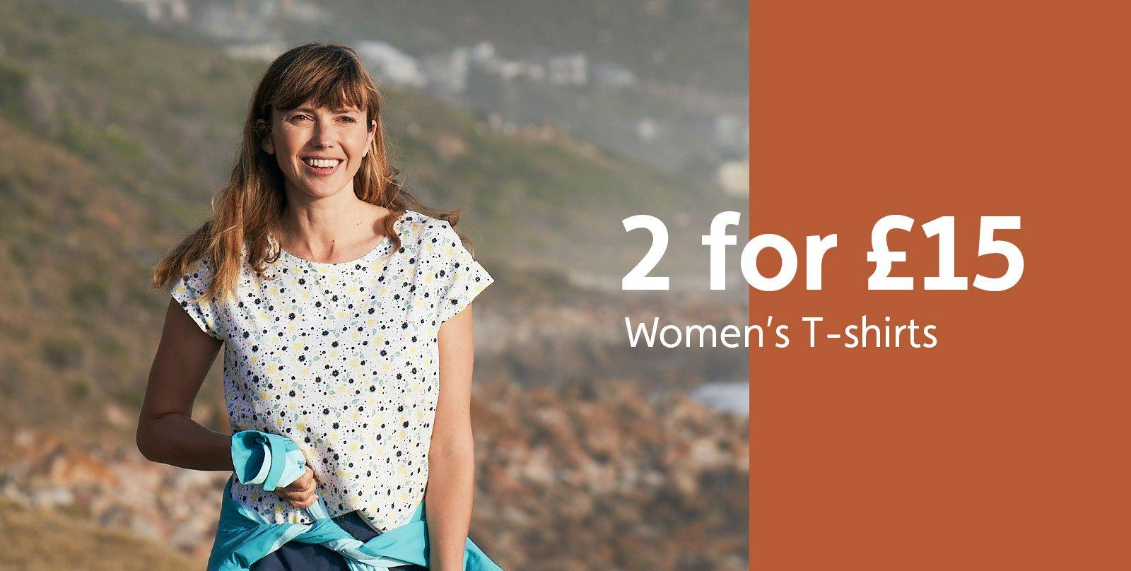 2 for £15 Women's T-Shirts