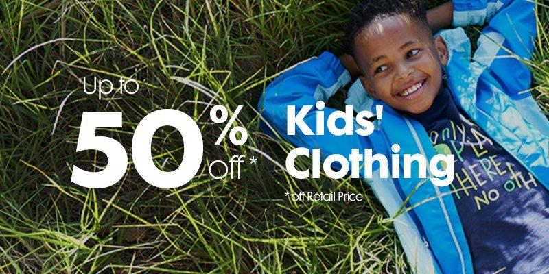 50% off Kids clothing