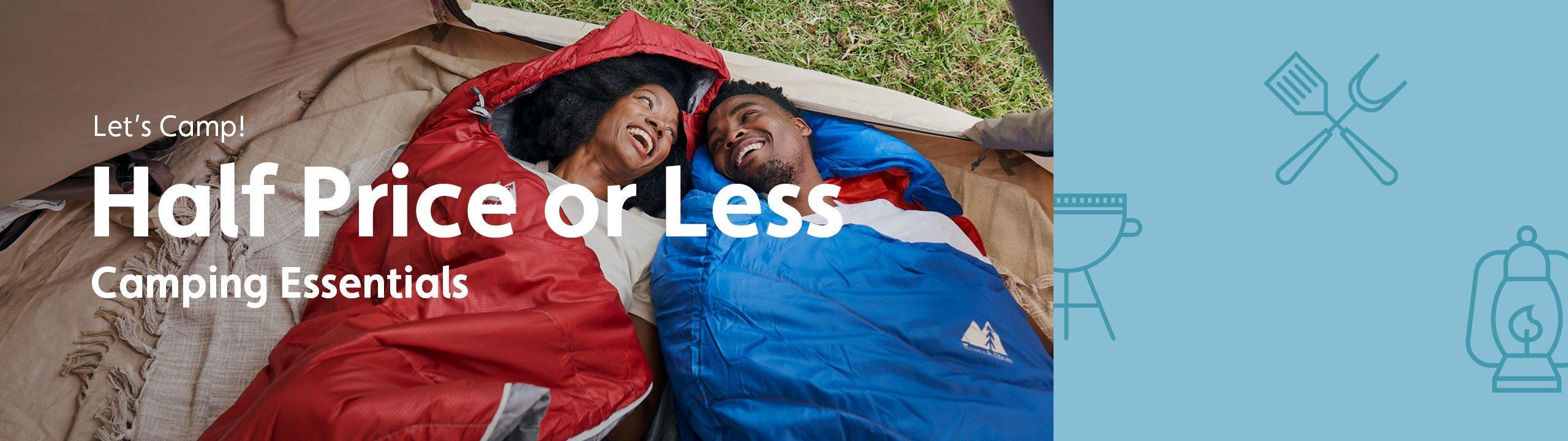 Half Price or Less - Camping Essentials