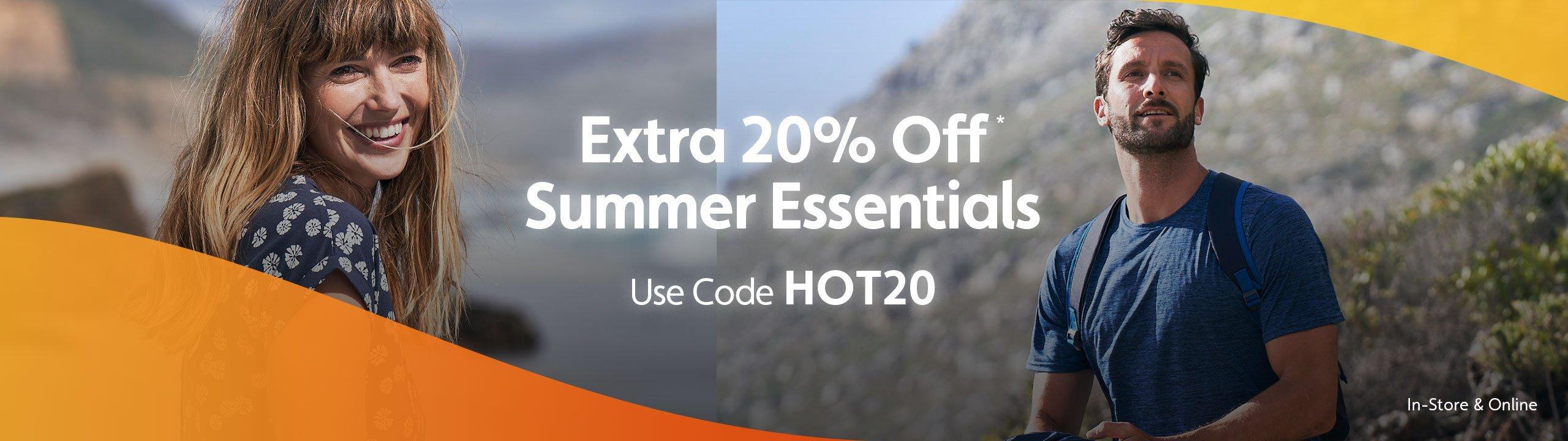Extra 20% Off Summer Essentials