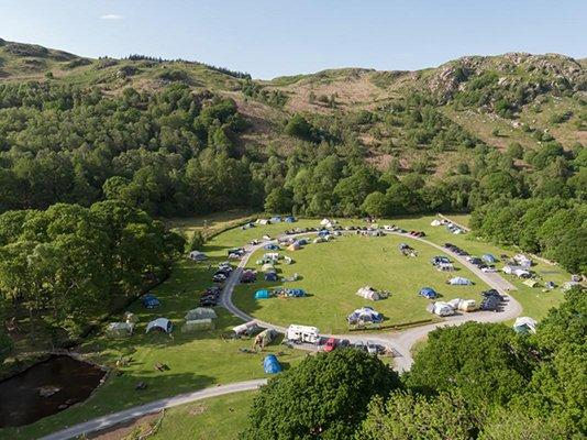 Image of the Fisherground Campsite in the Lake District