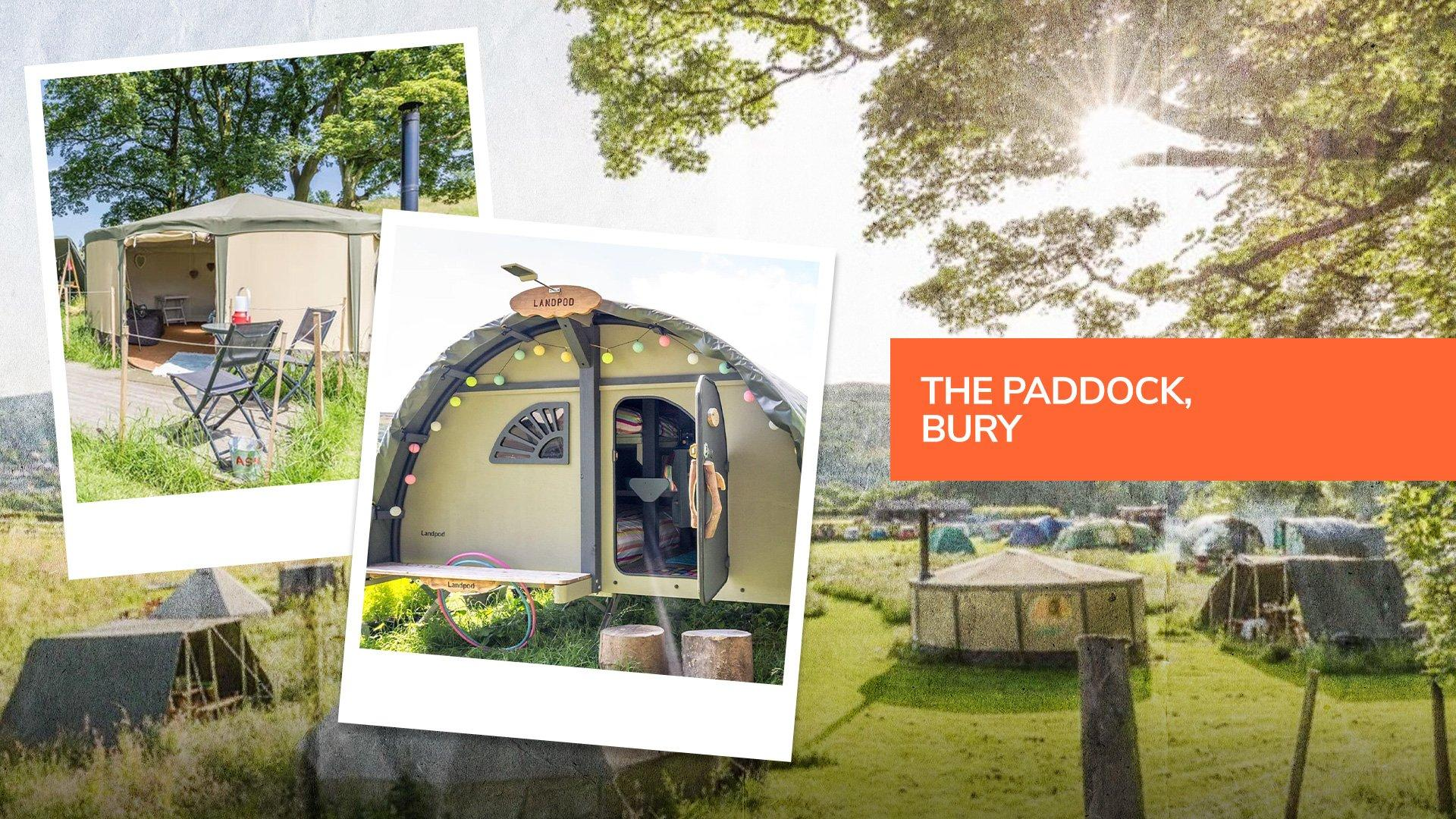The Paddock, a camping and glamping site in Ramsbottom, Bury near Manchester