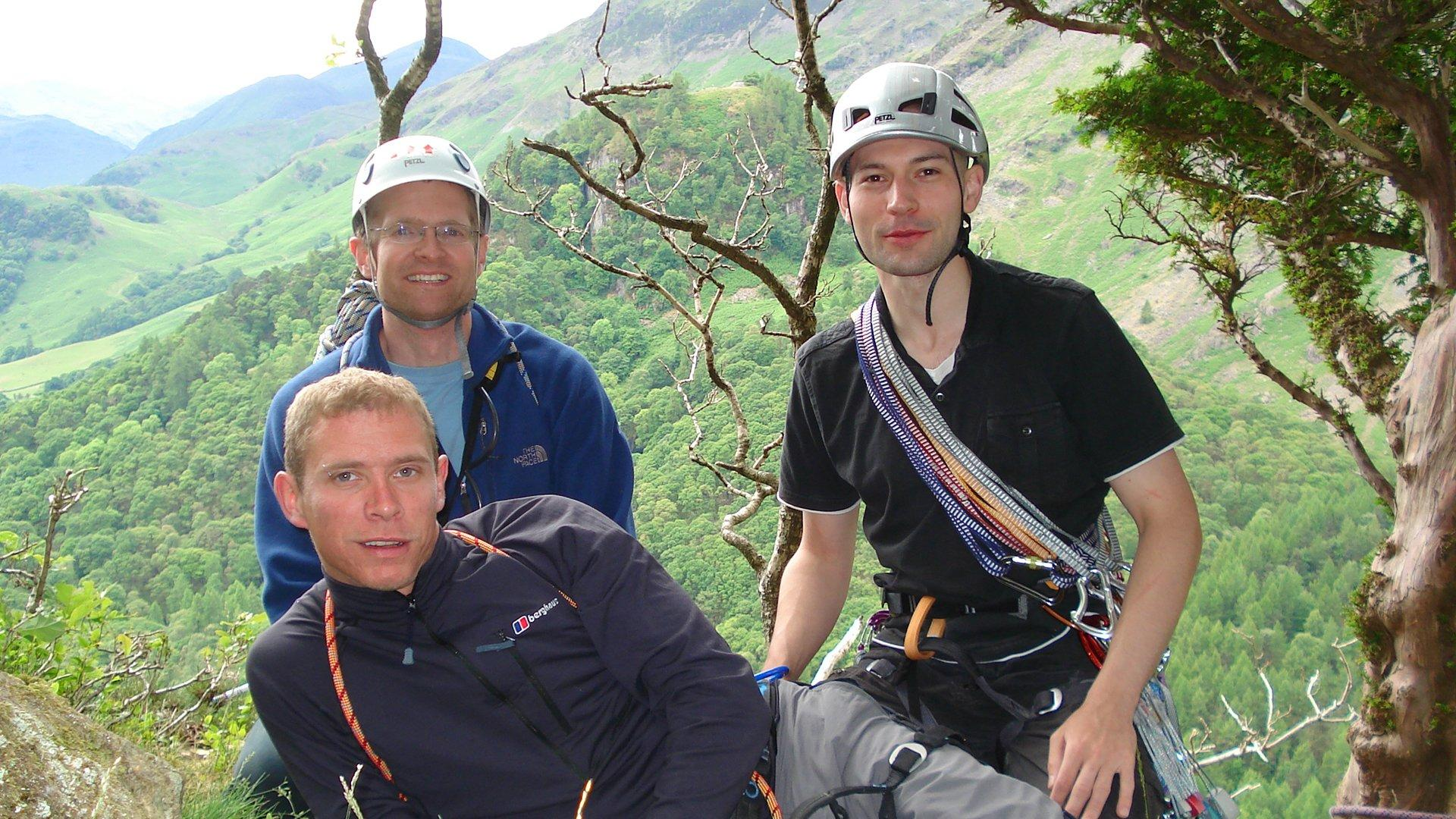 OutdoorLads posing for a photo after climbing in 2008