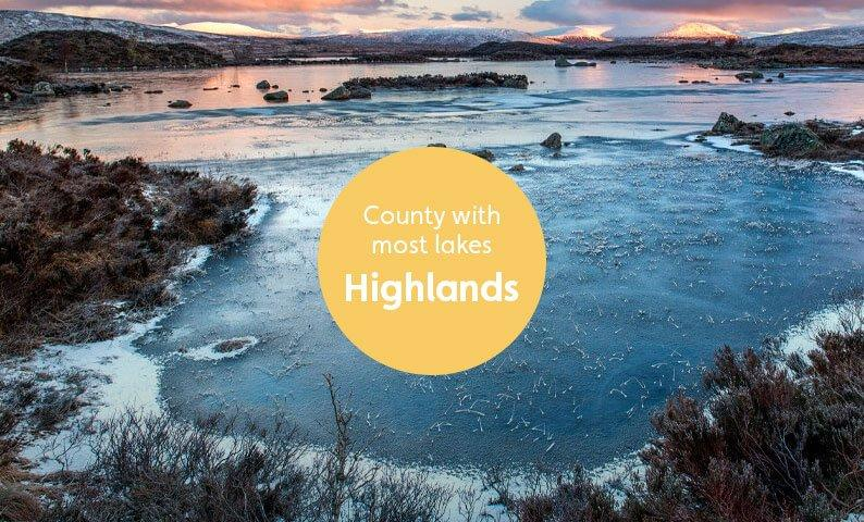 Most Lakes – Highlands