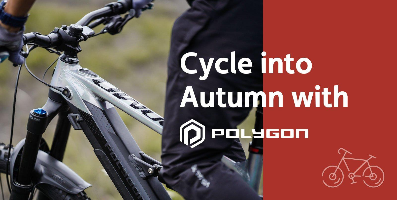 Cycle in to Autumn with Polygon
