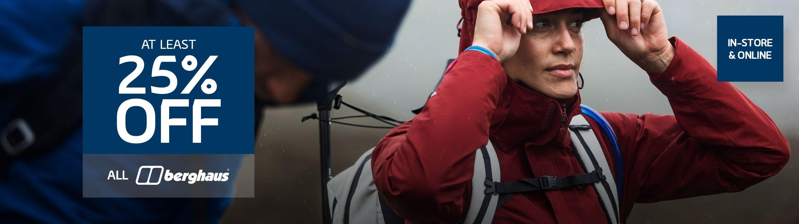 At Least 25% Off Berghaus