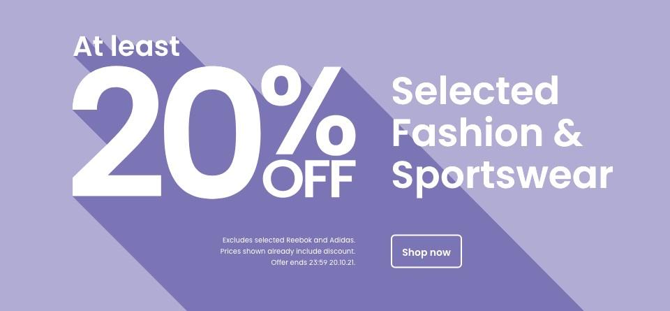 20% off Fashion