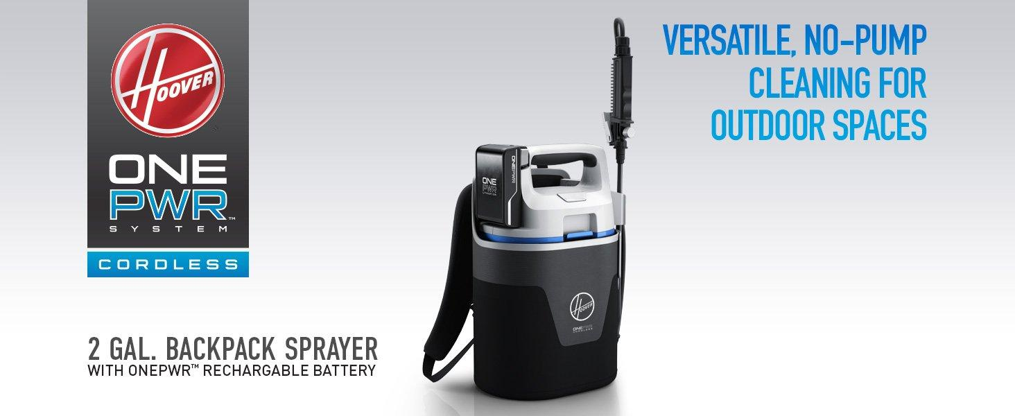 Cordless Backpack Sprayer with ONEPWR Rechargeable Battery