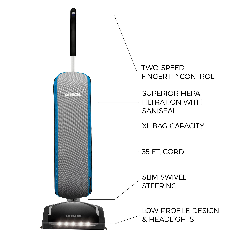 Oreck HEPA Swivel Upright Bagged Vacuum Cleaner2