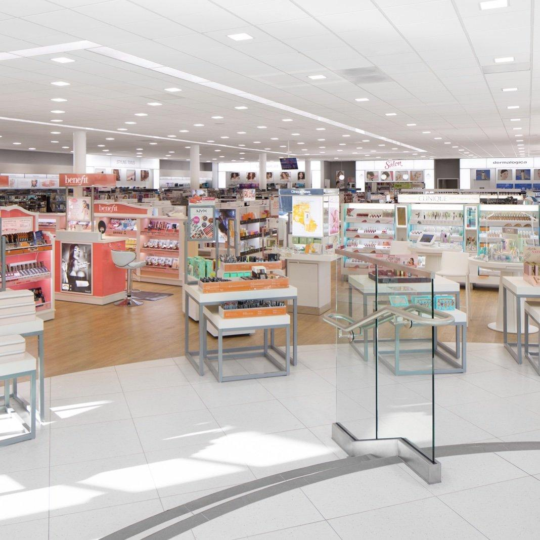 A view of the inside of an Ulta Beauty store.