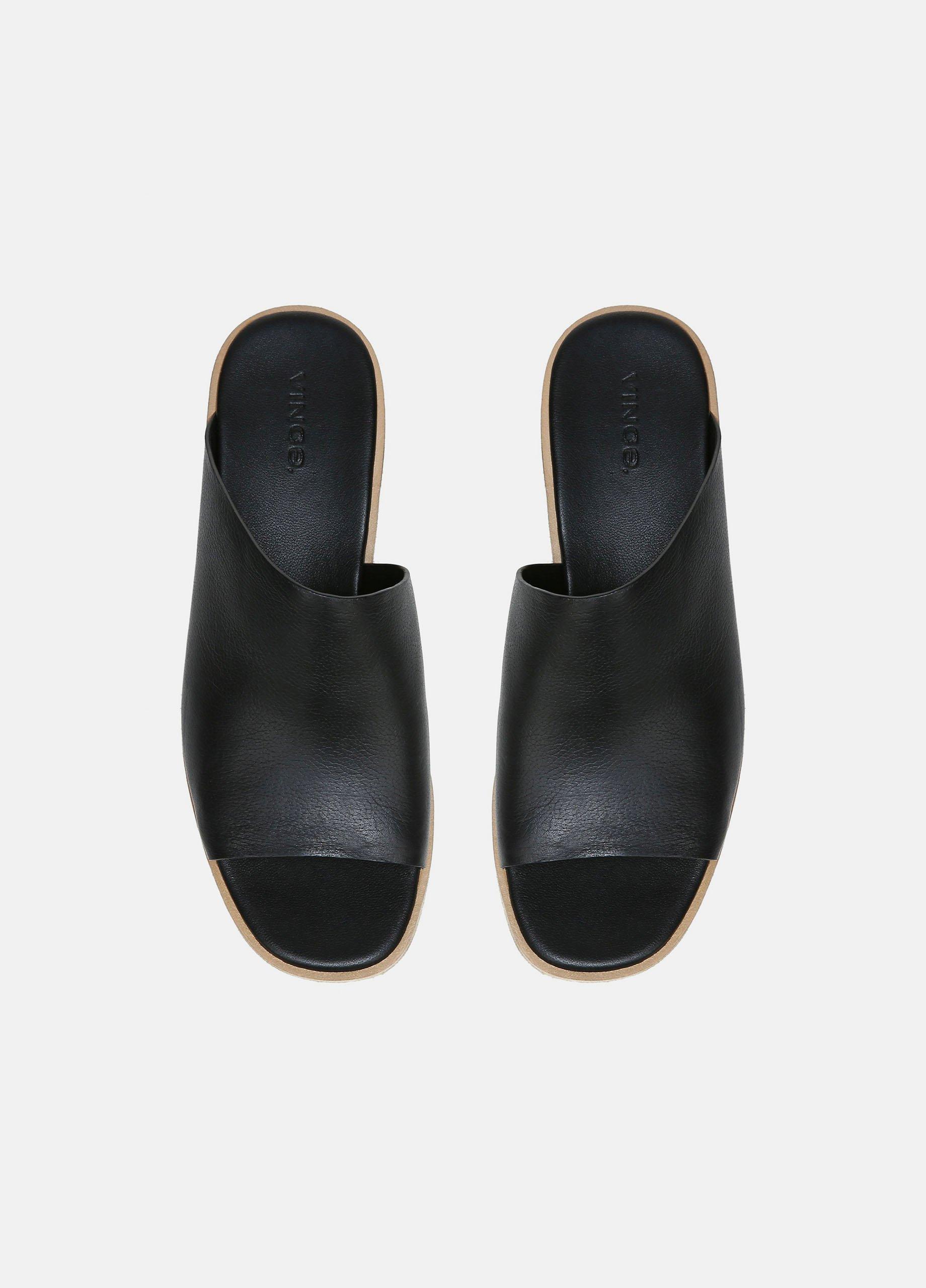 Sarria Leather Wedge Mule