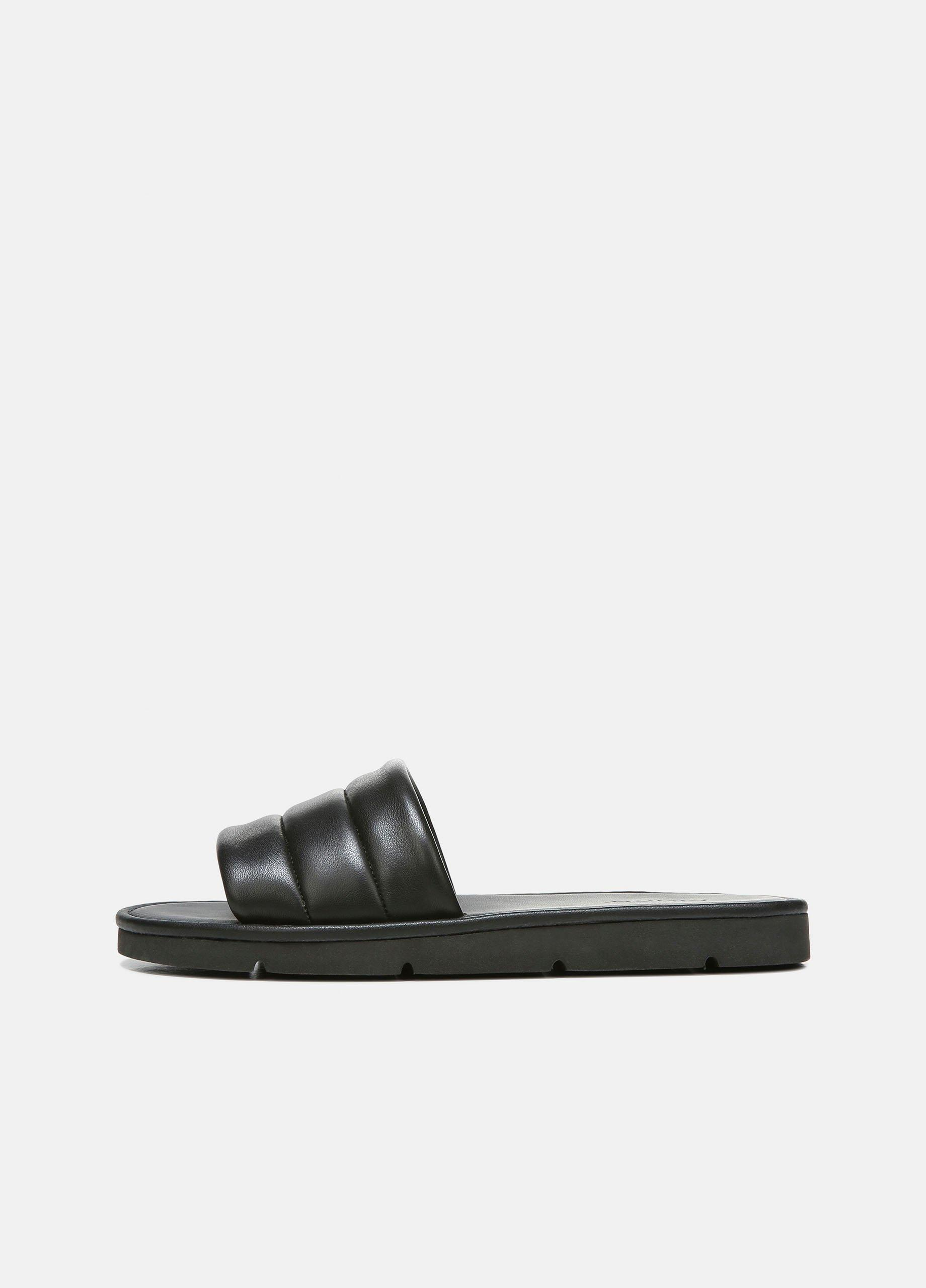 Olina Leather Slip On Sandal