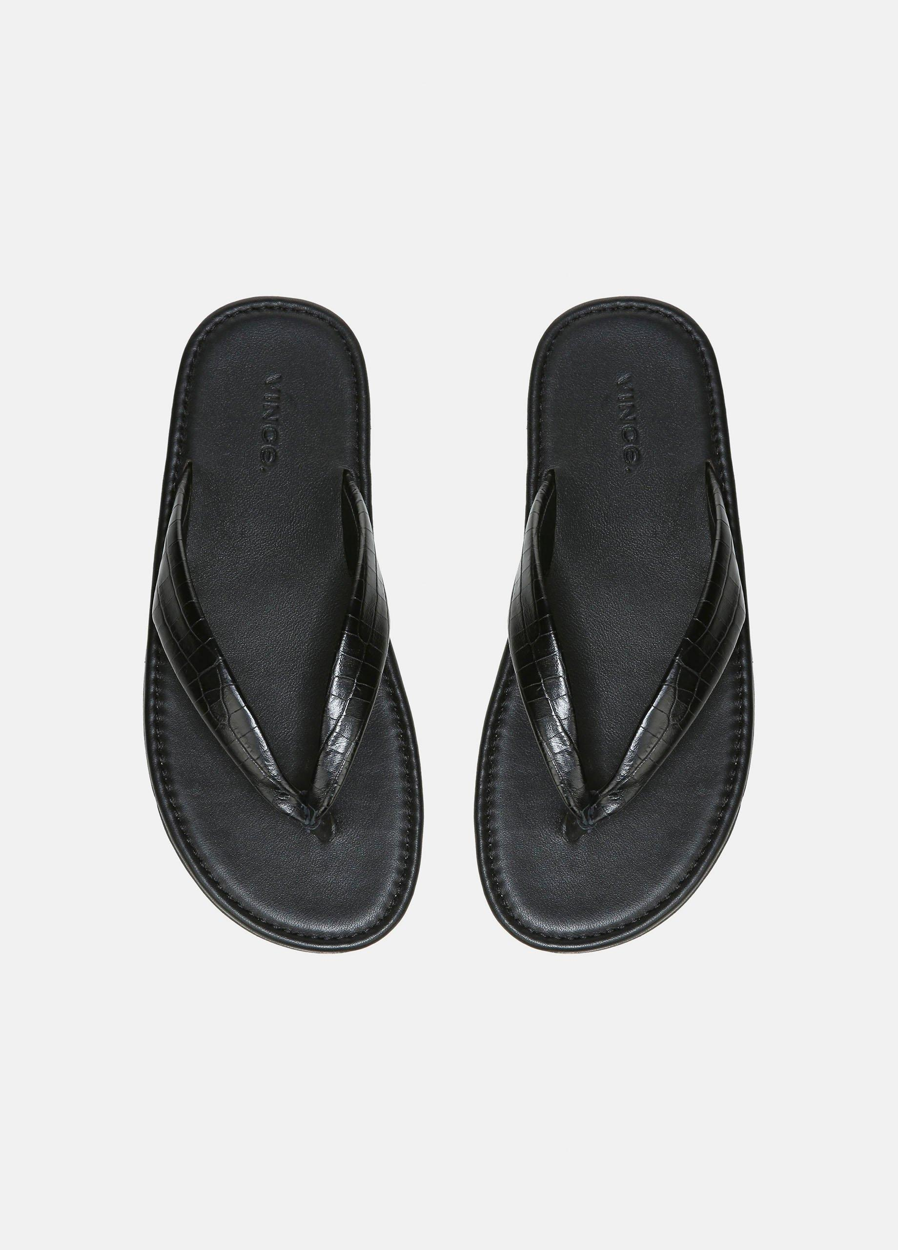 Olexa Croc Embossed Sandal
