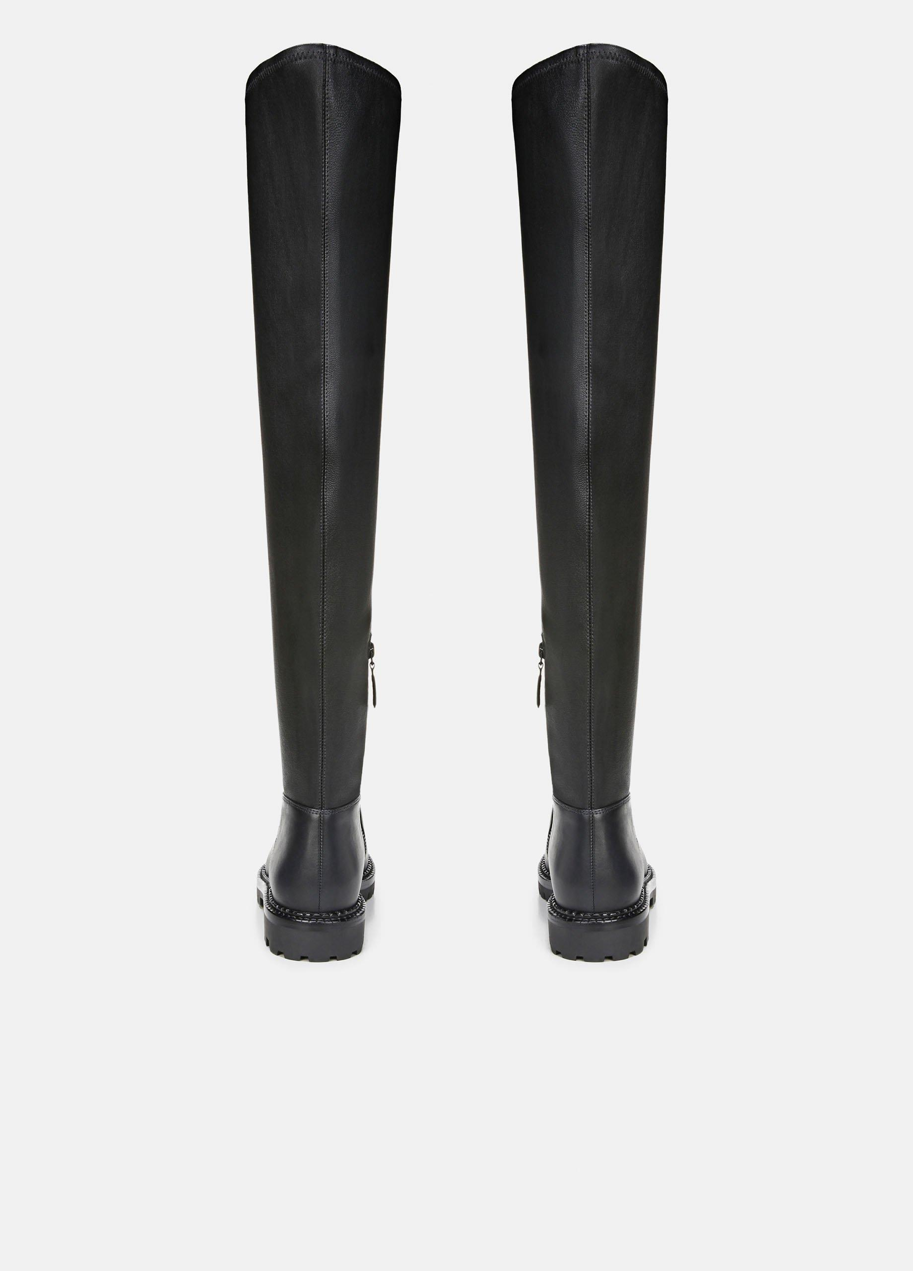 Cabria Leather Over-The-Knee Lug Boot