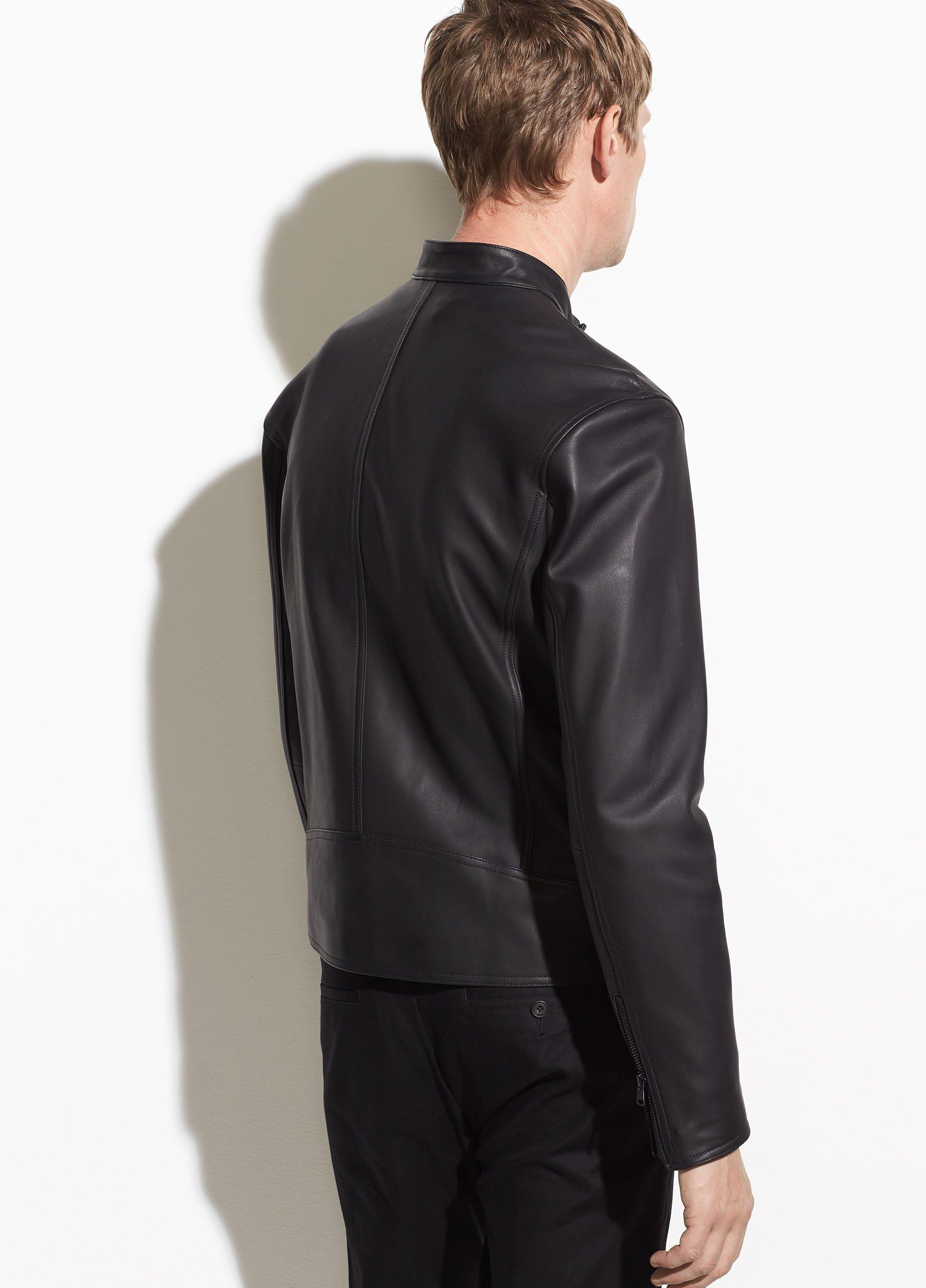Leather Café Racer Jacket