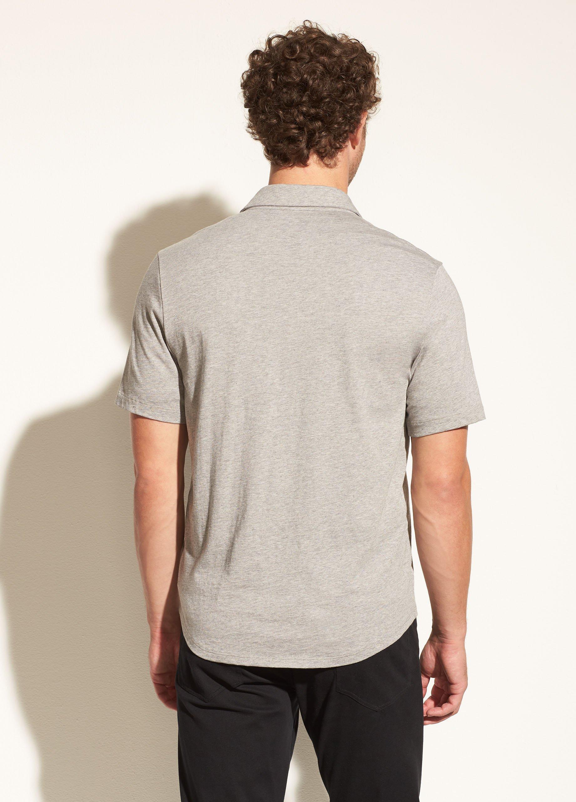 Pima Jersey Short Sleeve Button Down Shirt