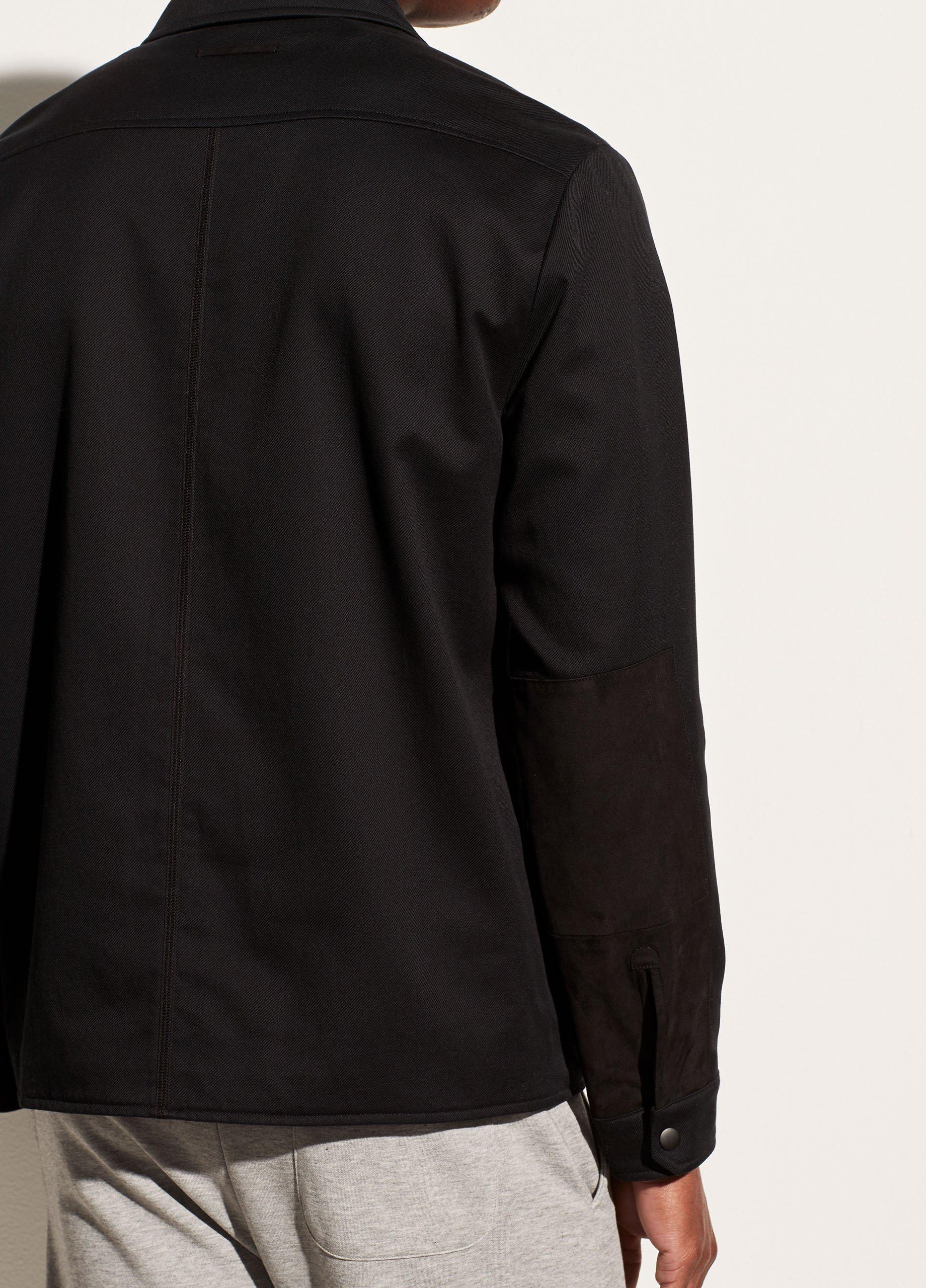 Cotton Twill Shirt Jacket