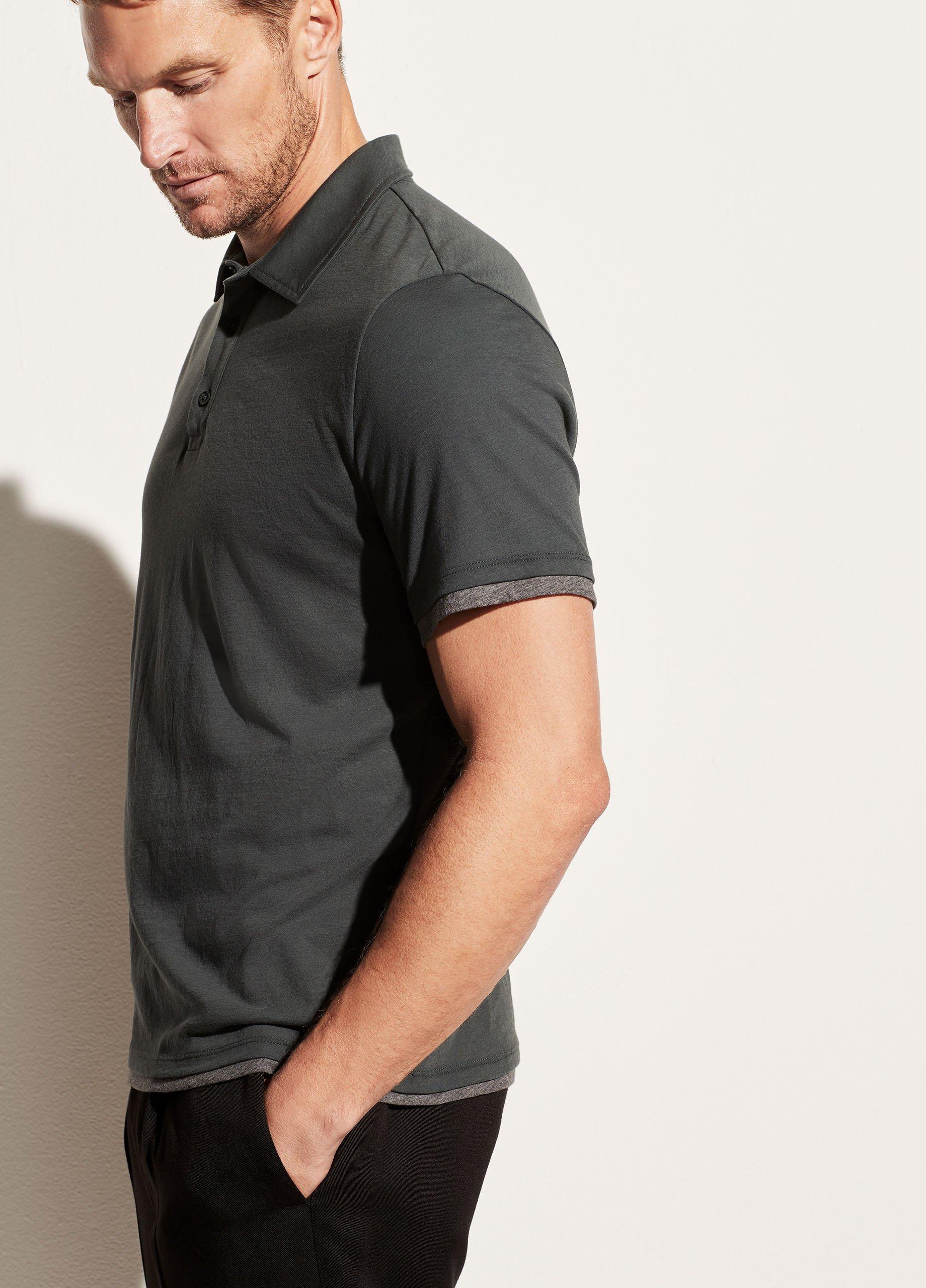 Double Layer Pima Cotton Short Sleeve Polo